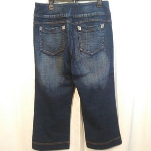 Boom Boom Jeans Jeans - Boom Boom Hi waist Wide Leg Capri Jeans. Sz 16